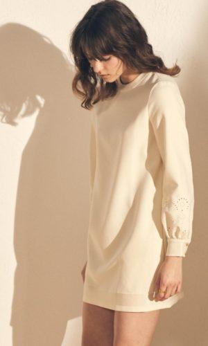 Sessùn - Robe courte manches longues Aragua - Robe de mariée pas cher - The Wedding Explorer