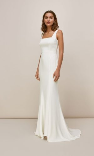Whistles - MIA SQUARE NECK WEDDING DRESS - Robe de mariée pas cher - The Wedding Explorer
